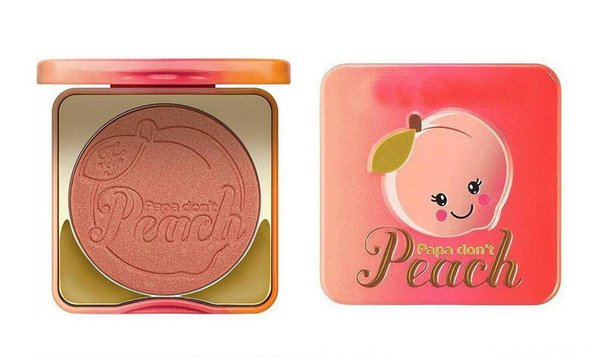 new face makeup papa don't peach blush peach-infused blush single highlight blush smells like peaches 9g