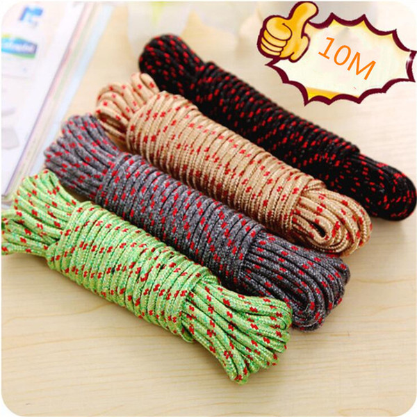 1pc 7mm Nylon Rope Polypropylene Rope Climbing Boat Yacht Sailing Line Pulley Rope Clothesline Survival Parachute Cord 10m