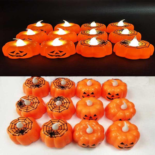 Nouvelle barre de lampe lanterne citrouille d'Halloween accessoires de décoration ambiance KTV partie électronique Bougie LED petite nuit dc863