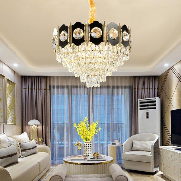 New Collection Contemporary K9 Crystal Chandelier Lights Modern Black  Chandelier Lighting Living Room Foyer Bedroom Led Pendant Lamps Lantern ...