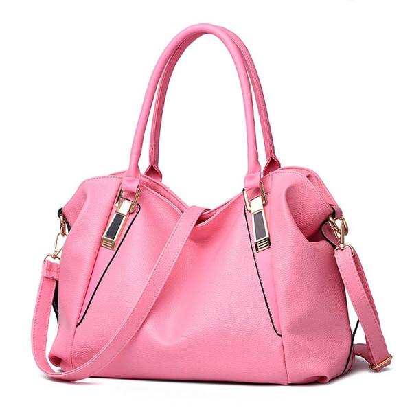 Wholesale- Yogodlns Designer Women Handbag Female PU Leather Bags Handbags Ladies Portable Shoulder Bag Office Ladies Hobos Bag Totes