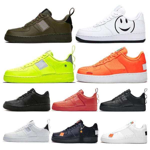 Nike Air Force 1 Forces Shoes Erkekler kadınlar moda platformu sneakers programı Keten erkek rahat kaykay ayakkabı 36-45