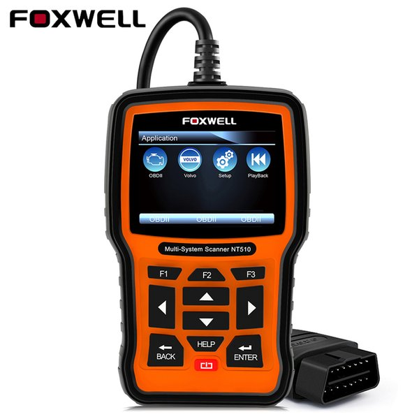 Foxwell NT510 For Jaguar Land Rover Professional Universal Car Diagnostic Tool For Volvo Opel Fiat Lancia SAS EPB Reset Scanner