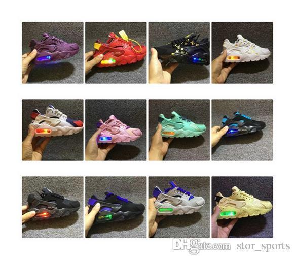 New Air Huarache Infant Baby Kids Running Shoes, Breathable Mesh Cushion Lighting Huraches Huaraches Designer Sneakers Eur 26-35