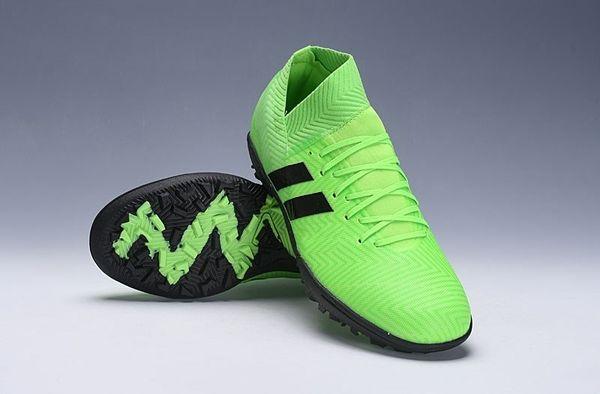 Baratos Novos Homens Nemeziz Messi 18.1 Sapatos de Futebol de Alta Qualidade Verde Preto Sports Low Ankle Chuteiras de Futebol 2019A Ao Ar Livre Rápido grátis