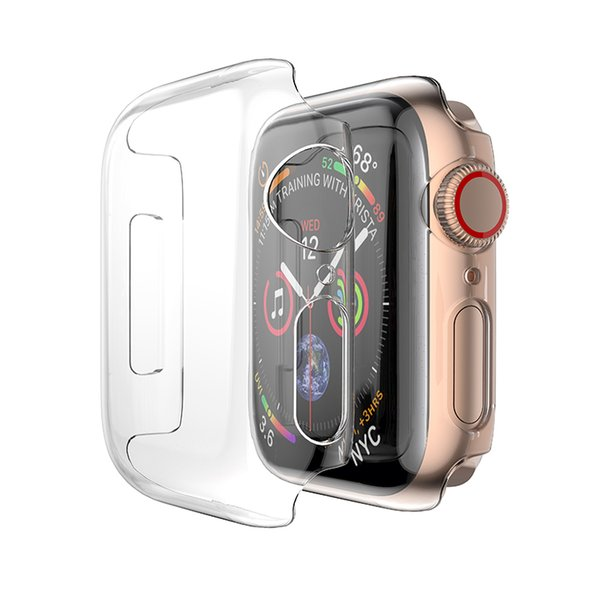 Hard Screen Protector Cover for Apple Watch Case Series 4 40mm 44mm Electroplating Plastic Hard PC for Apple Watch Case Series 4 3 2 1