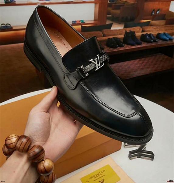Taille 38 45 Mode En Cuir Véritable Hommes Robe Chaussures Pointu Toe Bullock Oxfords Chaussures Pour Hommes, Lacets Designer De Luxe Designer Marque Chaussures