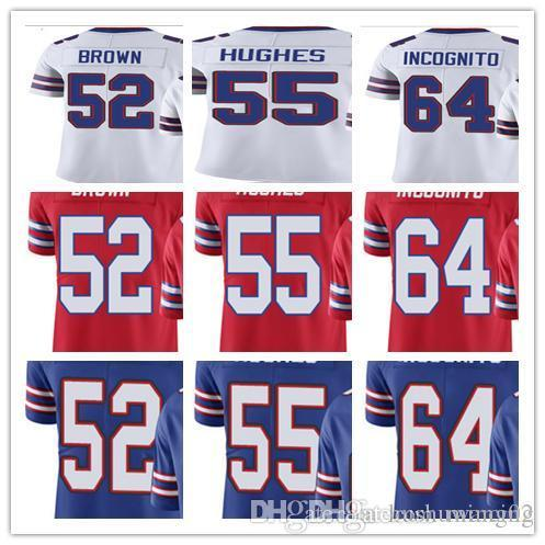 best service 6a350 be684 2019 Custom Buffalo Men/Women/Youth Bill# #52 Preston Brown 55 Jerry Hughes  64 Richie Incognito Vapor Untouchable Limited Rush Jerseys From Mincing, ...