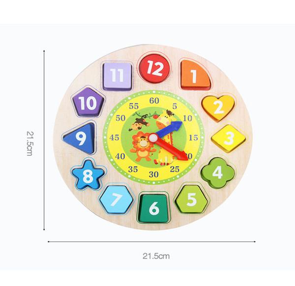 1-2 недели 3 лет головоломки мальчик женщина спаривания блоков бисерные ребенок дети часы письмо форма когнитивного детские игрушки