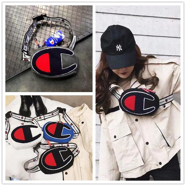 Ricamo Champions One-Shoulder Bag Unisex Marsupi Cintura Vita Borse Moda Uomo Donna Viaggi Shop Hip Hop Croce Corpo ChestBag HOT C3157