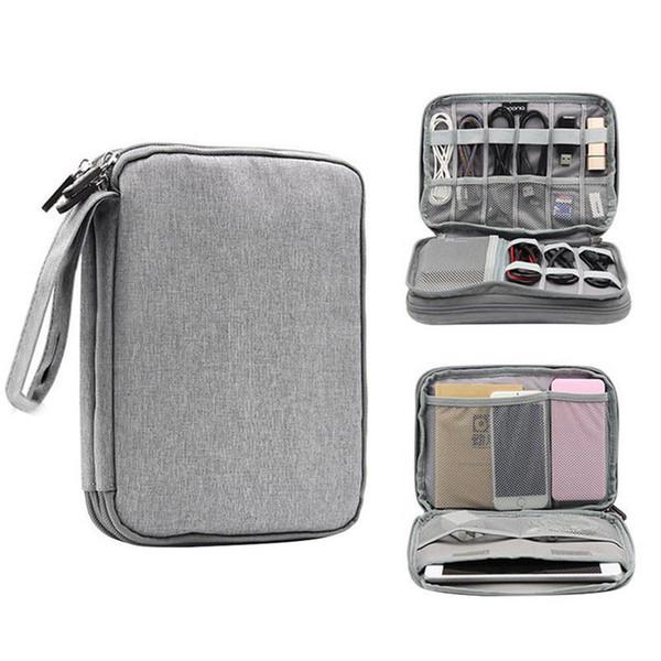 NOVO Carregador Universal Cord Cable Organizer Acessórios Eletrônicos Caso USB Phone Travel Bag De Armazenamento de Alta Qualidade