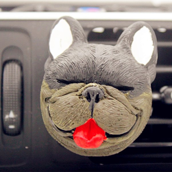 Bakeware Baking Tools Mousse Silicone Mould 2D pug car aromatherapy gypsum outlet clip mold chocolate mold cake decoration mold C1129