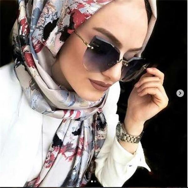 Luxus randlose cat eye sonnenbrille frauen italien marke designer gradienten sonnenbrille für weibliche übergroßen shades klar eyewear
