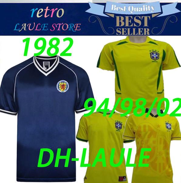 1982 Шотландия ретро футбол Джерси домой синий чемпионат мира по футболу Далглиш Страчан Миллер Вуд 94 98 Бразилия 11/12 ДРОГБА ЛАМПАР Роналду футболки