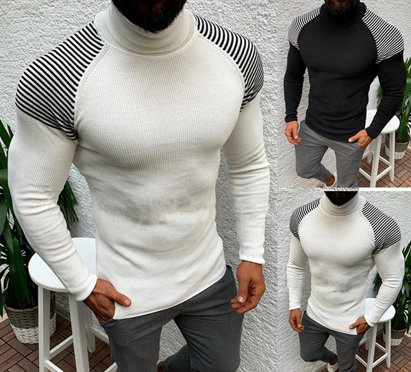 Autumn Mens Sweaters Fashion Designer Casual Slim Striped Pattern Long Sleeved Turtle Neck Sweaters Mens Clothing Fashion Mens Clothing Women Clothing Mens Jeans Pants Hoodies Hiphop ,Women Dress ,Suits Tracksuits,Ladies Tracksuits Welcome to our Store