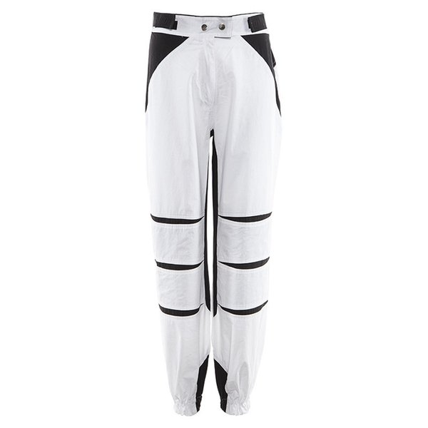 in stock Stylish Women Pants Fashion Streetwear Casual Overalls Patchwork Color Cool Pants