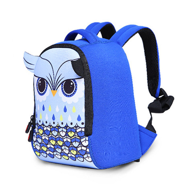 Kindergarten Backpack Kids Children Bag Owl Backpack Blue And Pink Girls Schoolbag 3d Preschool Backpacks A3307