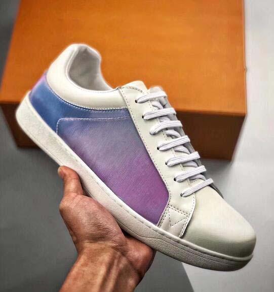 2019 lüks tasarımcı rahat ayakkabılar Moda Tasarımcısı Kadın Ayakkabı Altın Düşük Kesim Deri Düz erkekler Rahat sneakers 36-44 gg50