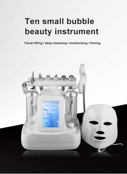 Dez em um coreano ultra micro bolha instrumento de gestão de pele instrumento de vanádio titânio shuigang instrumento de beleza salão de beleza