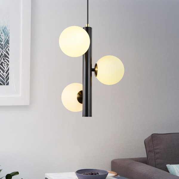 Moderne led hängelampe glaskugel anhänger leuchte mode eisen lamparas wohnzimmer schlafzimmer suspension leuchte lampen