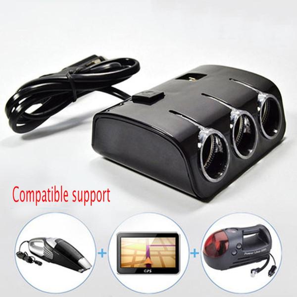 Dewtreetali Buon prezzo Auto 3 prese di corrente 120W Auto Accendisigari Splitter 2 porte USB Charger Adapter Con interruttore