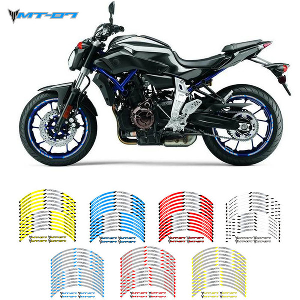 Новое высокое качество 12 шт Fit колеса мотоцикла наклейка полоса Светоотражающие Rim Для Yamaha MT07 MT07
