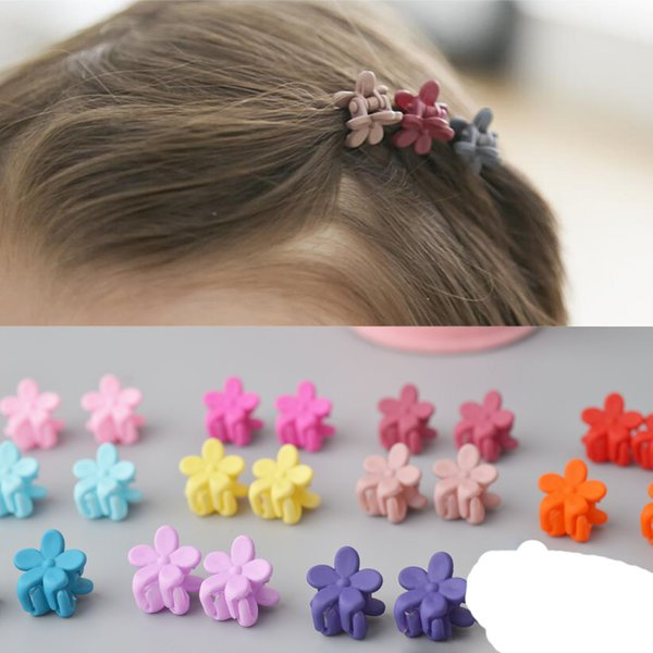 New Fashion Baby Girls Small Hair Claw Cute Candy Color flower Hair Jaw Clip Children Hairpin Hair Accessories Wholesale
