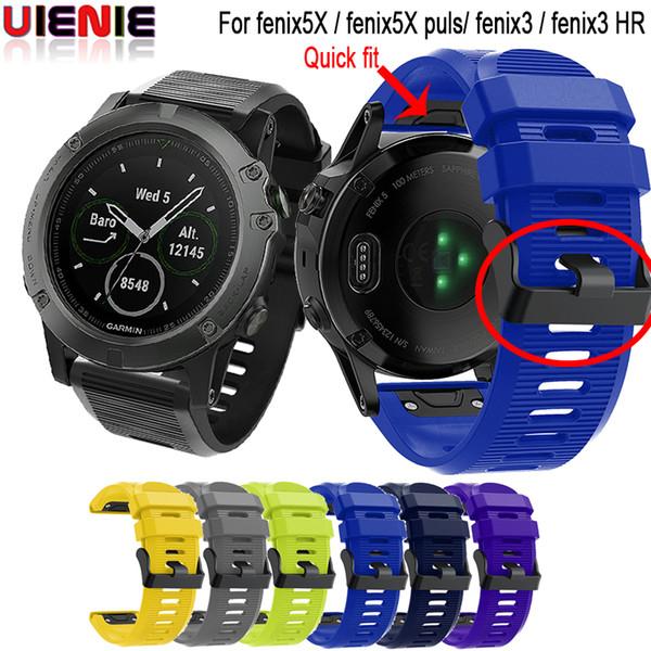 Zubehör Für Smart 26mm Armband Für Garmin Fenix 5X Plus 3 3HR Uhr Quick Fit Silikon Easyfit Armband Für Garmin Fenix5x Smart Roadster Zubehör Von