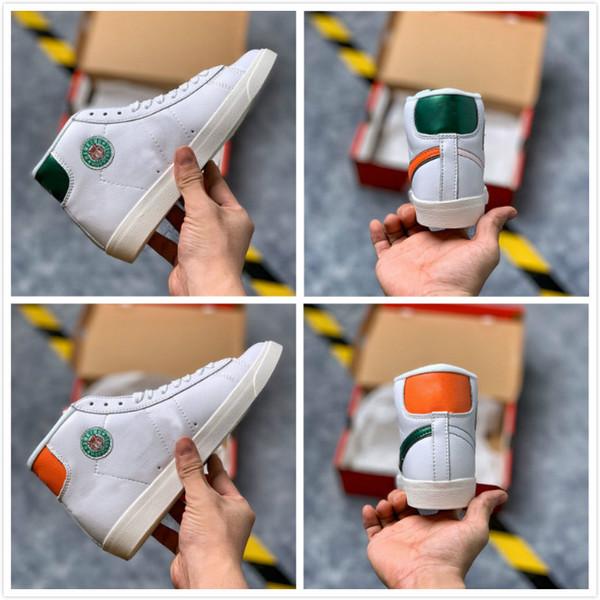 2019 Nuevos Blazers Mid Stranger Things TAILWIND79 Hawkins High School Zapatos para correr Hombres Blanco Diseñador de exteriores Zapatillas deportivas sin caja