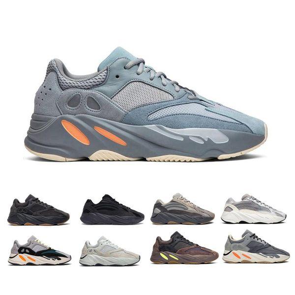 Kanye West 700 Wave Runner кроссовки для женщин людей 700s V2 Статическая Спорт Кроссовки Сиреневый Сплошные Серый Роскошная обувь Размер 36-45