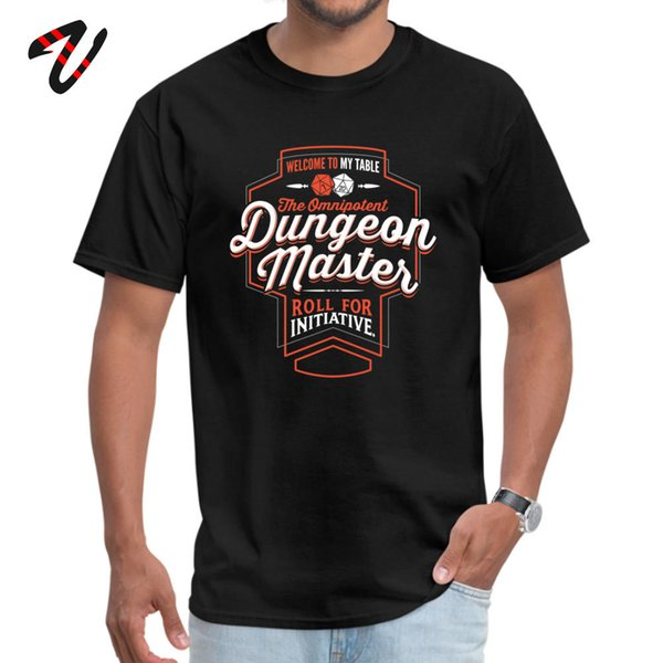 DnD D20 T-shirt Men Game Tshirt Dungeon Master Dungeons And Dragons Mens New Design Tops & Tees 100% Cotton T Shirts Letter