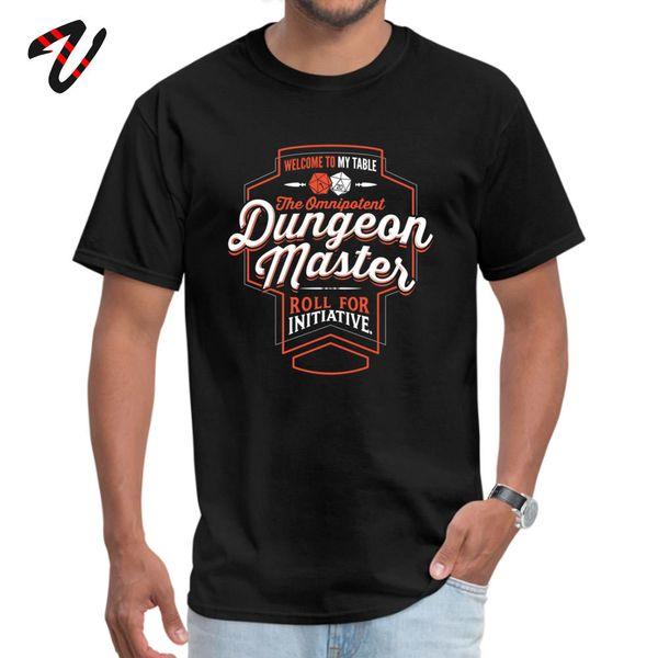 DnD D20 T-Shirt Männer-T-Shirt Spiel Dungeon Master Dungeons and Dragons-Männer des neuen Entwurfs Tops Tees 100% Baumwolle T Shirts Brief