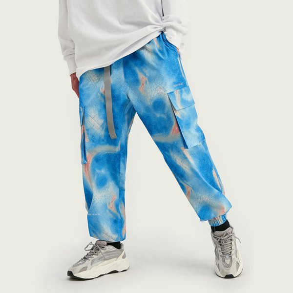 Hip Hop Mens Womens Pants Designer Brand Blue Star Sky Relaxed Sport Running Streetstyle Loose Casual Trousers Top Quality B101679V