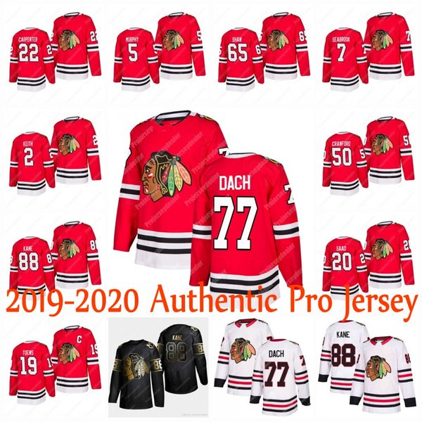 best selling 77 Kirby Dach Chicago Blackhawks 2019-2020 Authentic Pro Jersey Patrick Kane Jonathan Toews Corey Crawford Duncan Keith Olli Maatta Dylan
