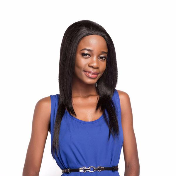 Longue ligne droite avant de cheveux synthétiques Perruques Pour Femmes ZXTRESS Noir Brun Couleur Layered Hairpiece 1.5 * 13.5 pouce Dentelle Perruque Frontale Partie Gratuite
