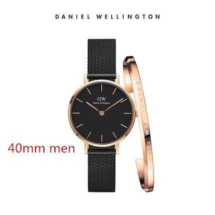 top luxury brand dw bracelet Daniel donna uomo Orologio Wellington's fashion cinturino in acciaio inossidabile stile 40 / 32mm oro rosa orologi da uomo con gif