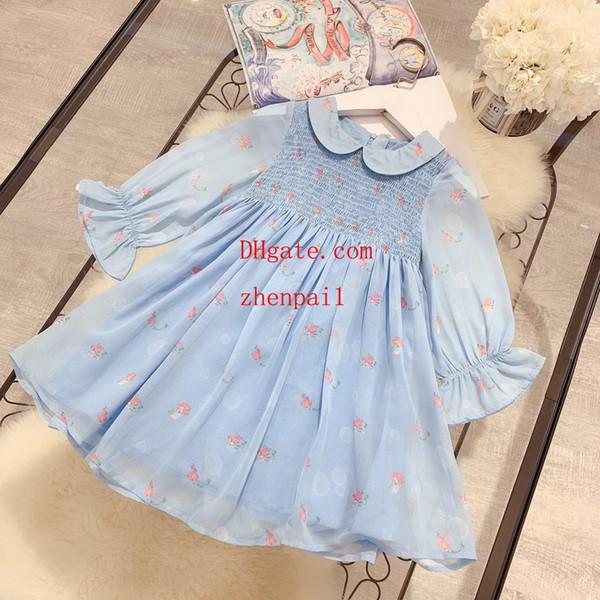 Летнее платье для девочек в стиле богемного рукава с длинным трикотажным женским платьем без рукавов с высокой талией A-Line Beach Princess Dress 2019 Юбка