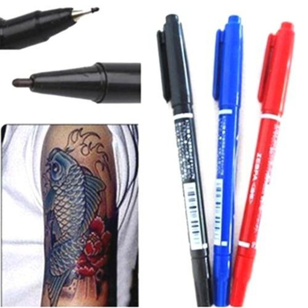 1Pcs Marker Pens Skin Marker Pen Scribe Tool Tattoo Supplies Good Waterproof Ink Thin Nib Crude Nib New Portable