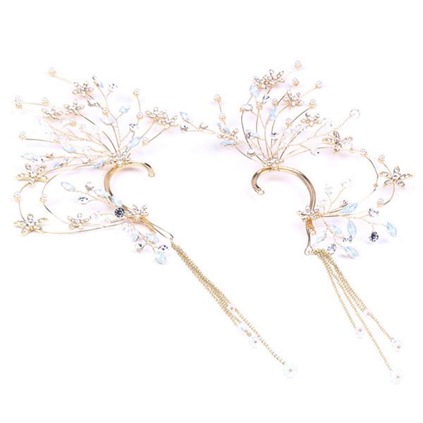 Nupcial Jóias Rhinestones Handmade Wedding Tassel Brincos Acessórios Do Casamento Coreano High-End Brincos