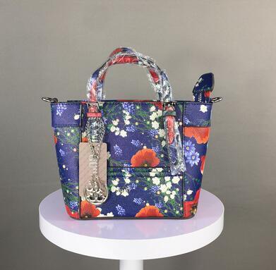 Kadın çanta yeni Avrupa ve Amerikan tarzı çiçekler omuz çapraz paket desen çiçek ve kuş baskı moda cep çanta