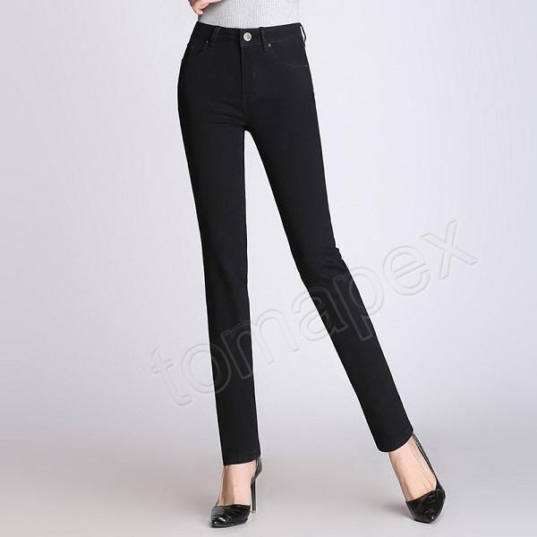 Primavera 2019 donne retrò denim denim pantaloni blu vita alta jeans donna casual vintage boyfriend mom jeans moda coreana