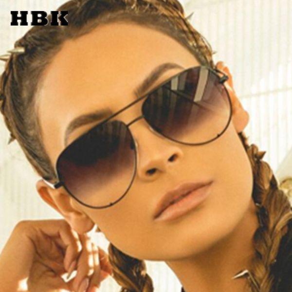 best selling Hbk Pilot Sunglasses Oversized Big Frame Vintage Women Men Brand Designer Female Male New Fashion Eyewear Outdoor Uv400