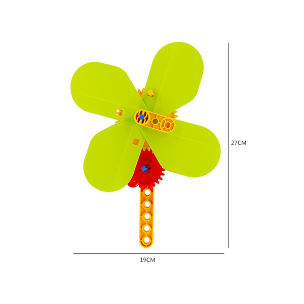 windmill sets DIY Assembly Hand Fan Big size Building Blocks compatible duplo Bricks without Packaging)