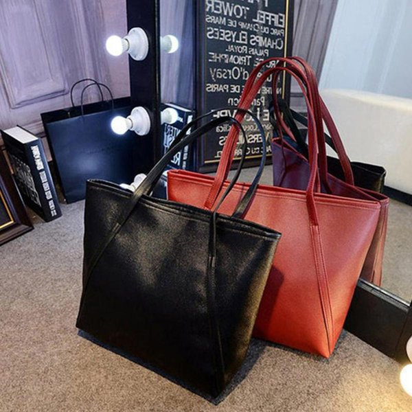 1pc candy color fashion casual glossy alligator totes large capacity ladies simple shopping handbag pu leather shoulder bags