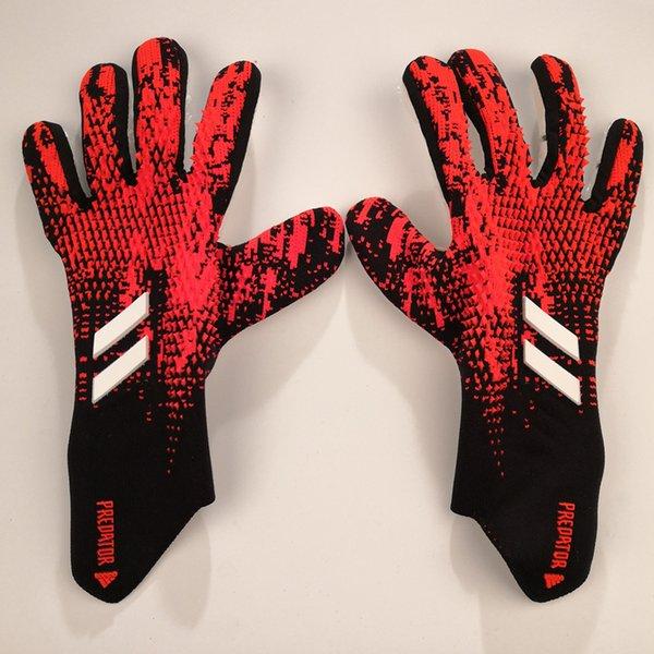 top popular 2020 Brand adi Retro Falcons Goalkeeper Gloves Wrapped wrist strap Professional Soccer Gloves Anti-slip Gloves-latex plam Sports Gloves 2021