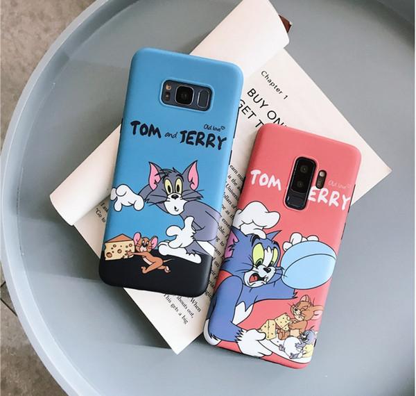 Sevimli Karikatür Jerry Tom Telefon Kılıfı Için Samsung Galaxy Not 8 Not 9 S8 S9 Artı S10 Durumda Silikon Yumuşak Arka Kapak Fundas