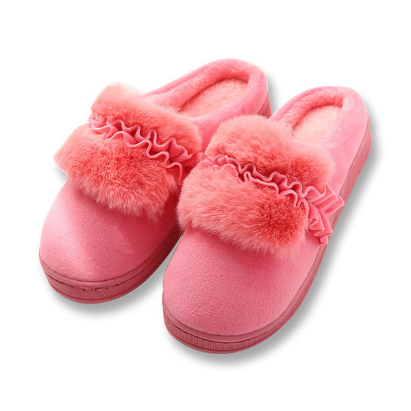 Home Slippers Winter Warm Slippers Indoor Bedroom Women House Shoes Female Plush Slippers Cotton Furry Pantufa Unisex