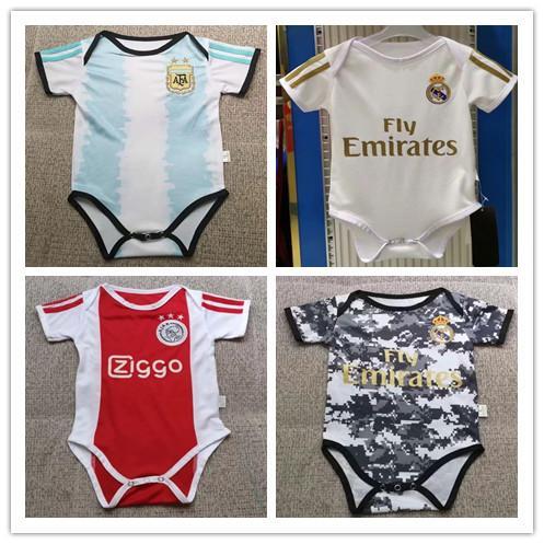2019 2020 son bebek forması Gerçek Madrid Ajax bebek Futbol Formaları 19 20 kulübü 6-18 ay kısa kollu bebek futbol gömlek