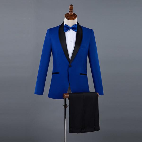 Men's suit multi-color quality gentleman men's suit two-piece suit (jacket + pants) wedding banquet show men's suits dress