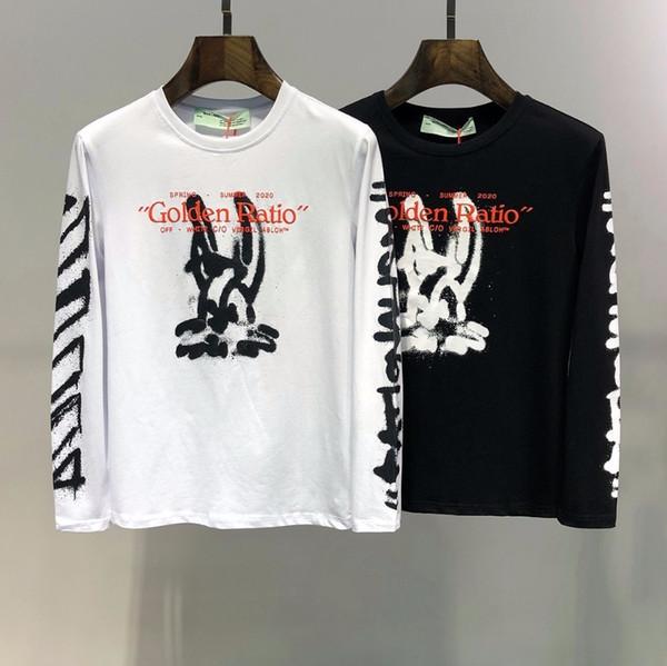 2019 Outono de algodão novo dos homens em torno do pescoço de mangas compridas T-shirt high-end personalidade moda assentamento camisa dos homens t-shirt 715 5104